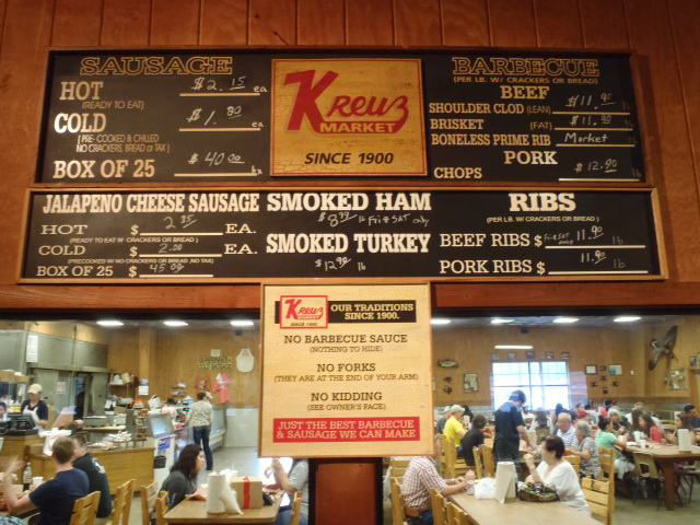 The famous sign at Kreuz