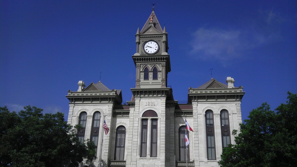 Courthouse in Meridian, Tx