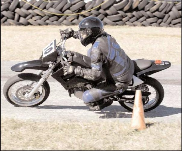 Motorcycling is not a passive sport