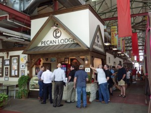 Lined up and waiting for the open at Pecan Lodge