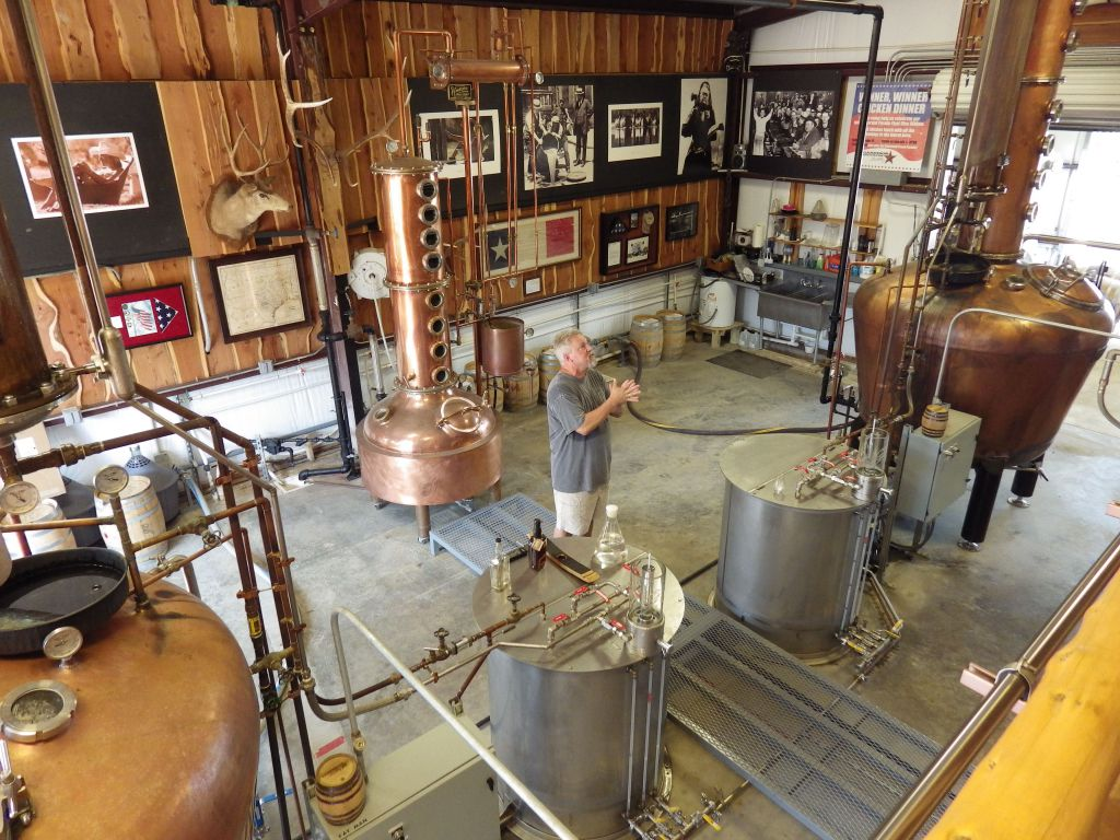 Dan Garrison explains the distilling process