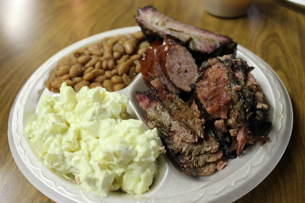 4 meat plate with double brisket
