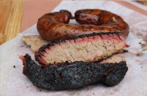 Brisket and house made sausage from Hay's Co. Bar-B-Que