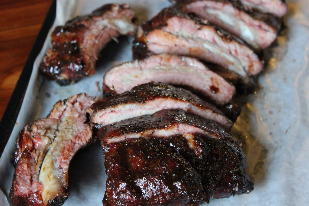 Baby back ribs at Opie's BBQ