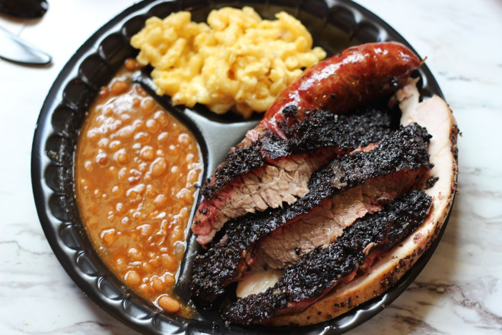 Three Meat Plate at Killen's Barbecue