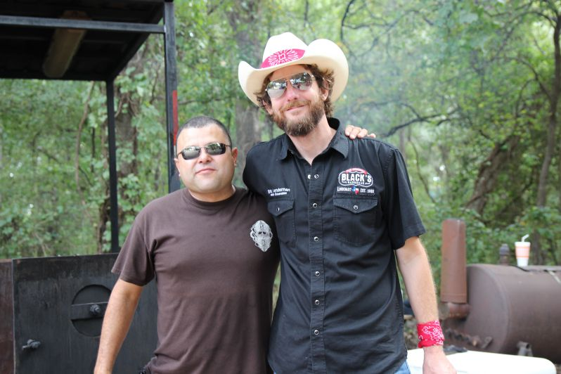Michael Hernandez of Hay's County Bar-B-Que and Eric Linderman of Black's Barbecue
