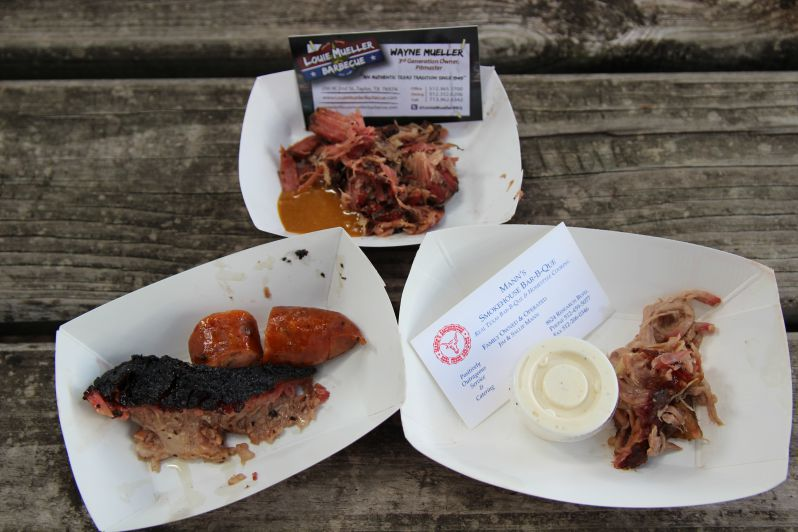 Endless samples were available from twelve BBQ vendors