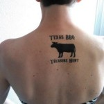 Texas BBQ Treasure Hunt Tattoo