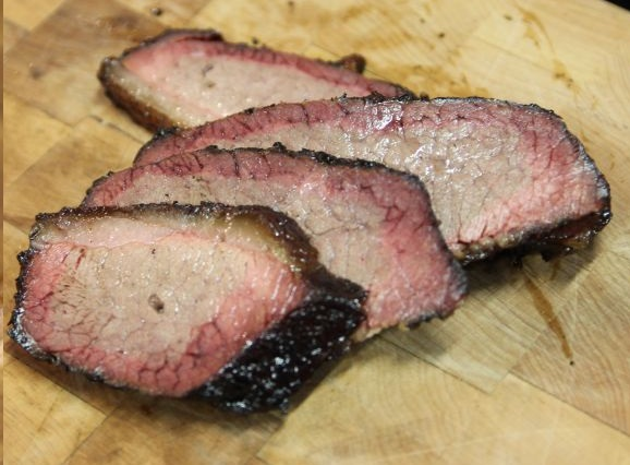 Lean brisket looking good at Kreuz Market in Bryan
