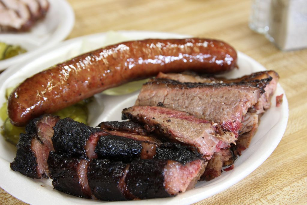 Brisket and Sausage from Miller's Smokehouse in Belton