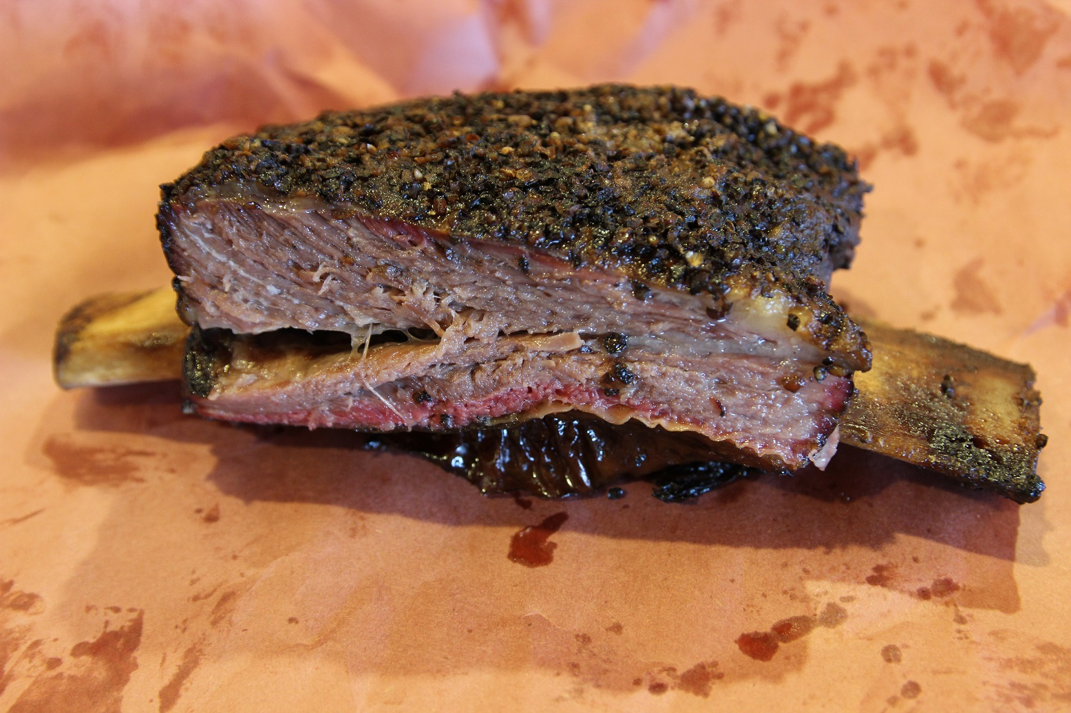 Nice Beef Rib from Spring Creek Barbecue