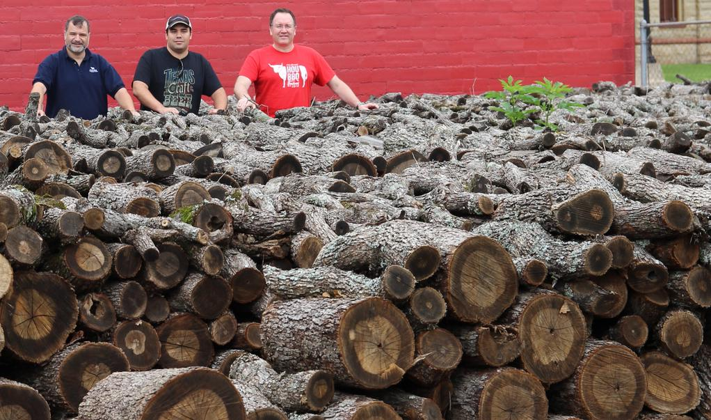 Myself, Andrew, and Scott in the woodpile at Smitty's