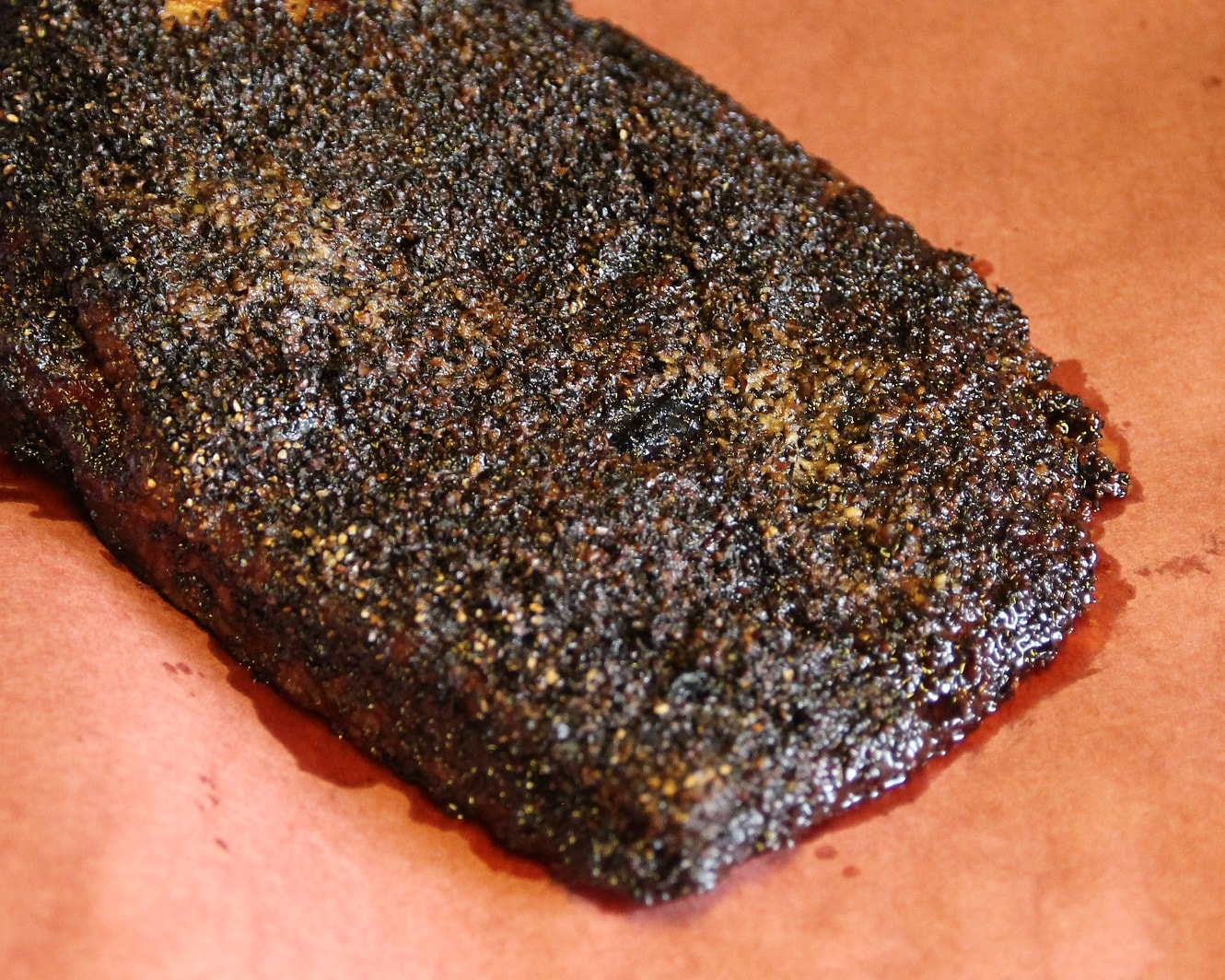 Whole brisket ready to be sliced from Pappa Charlie's Barbeque