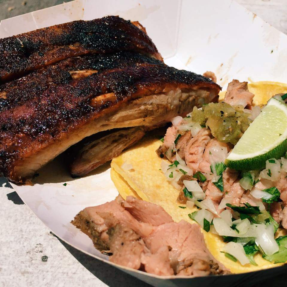 Ribs and tri tip taco from Pappa Charlie's Photo by Eric SandlerRibs and tri tip taco from Pappa Charlie's Photo by Eric Sandler