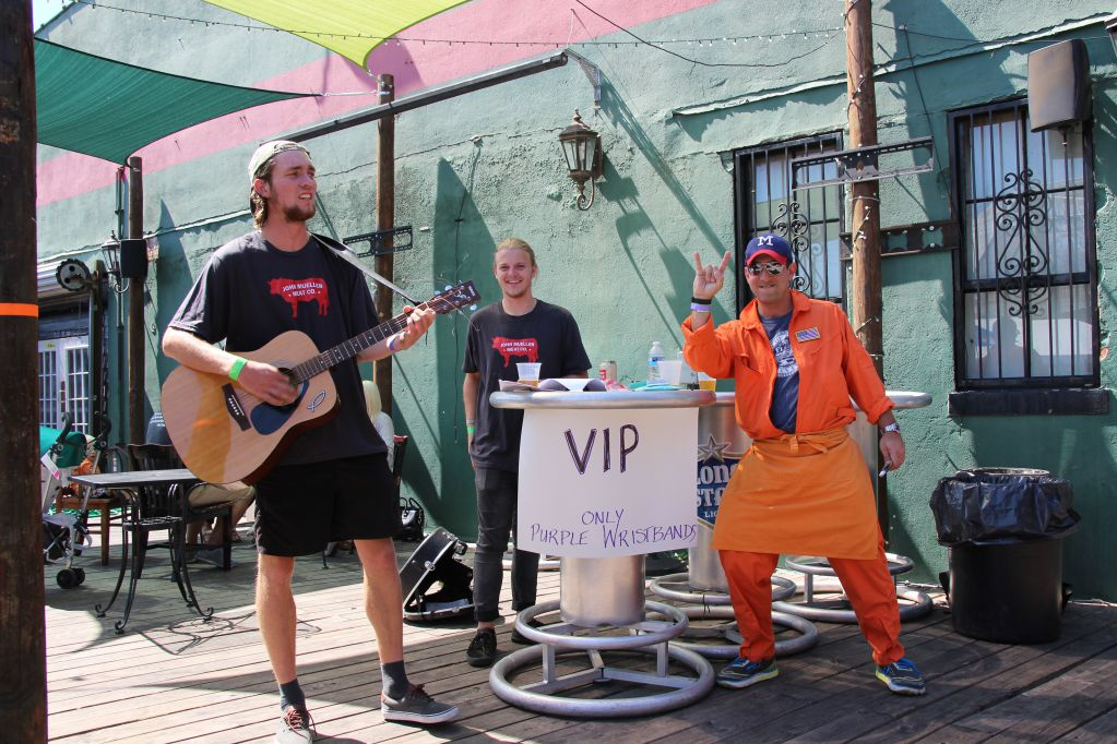A VIP section offered entertainment at Q for a Cause IV
