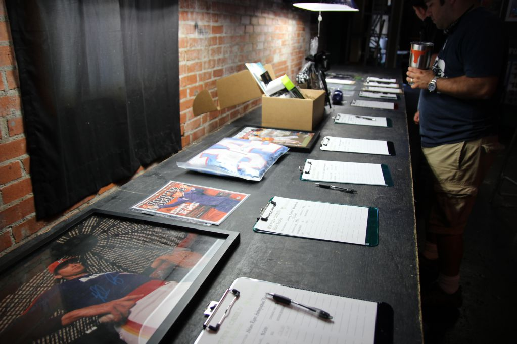 Silent auction at Q for a Cause IV