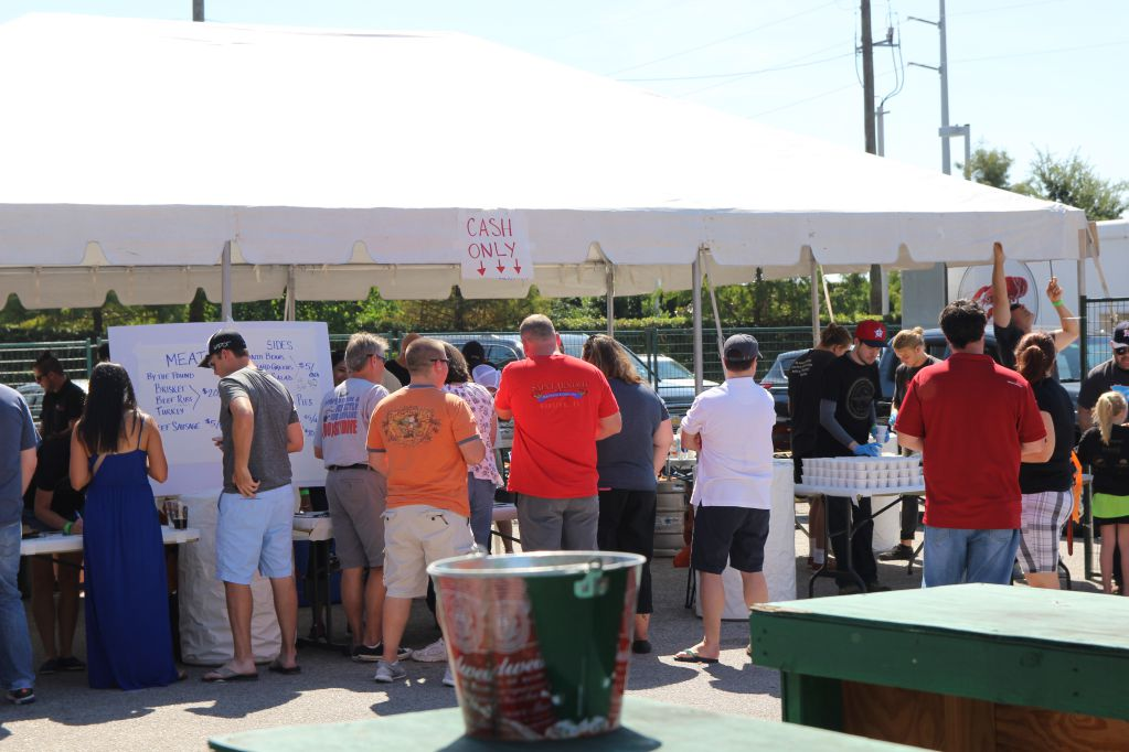 Crowds eagerly lined up for BBQ at Q for a Cause IV
