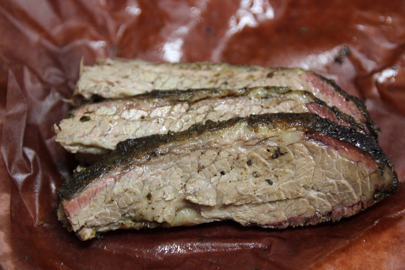 Very good brisket from Truth BBQ in Brenham, Texas