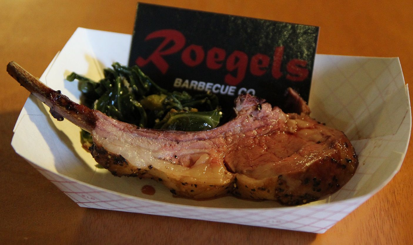 Lamb Chop from Roegels Barbecue Co at HOUBBQ Throwdown 2015