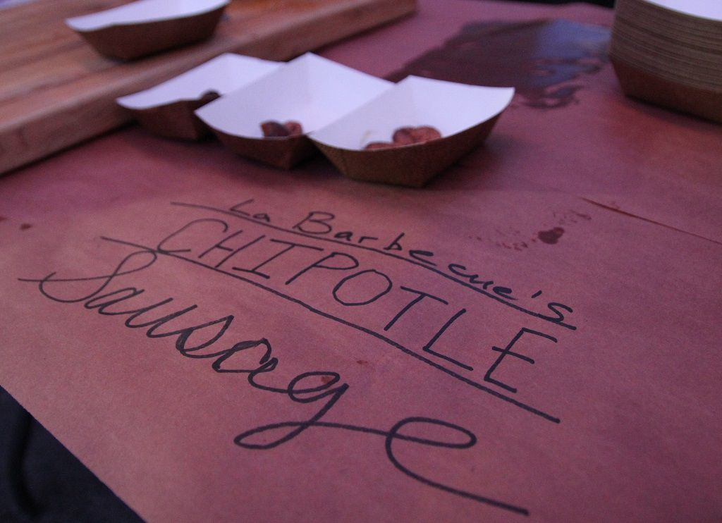 La Barbecue's Chipotle sausage won the event