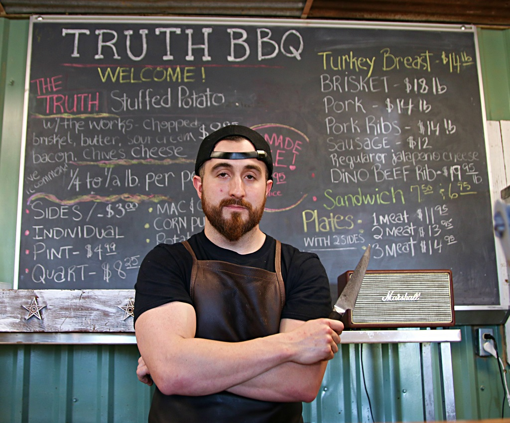 Leonard Botello, pit master at Truth BBQ