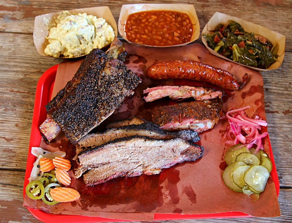 A bountyful and delicious plate from Truth BBQ