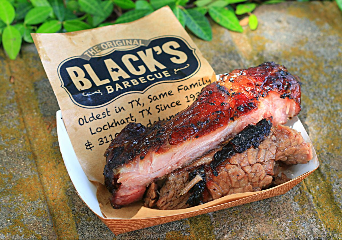 Ribs and sausage from Black's Barbecue