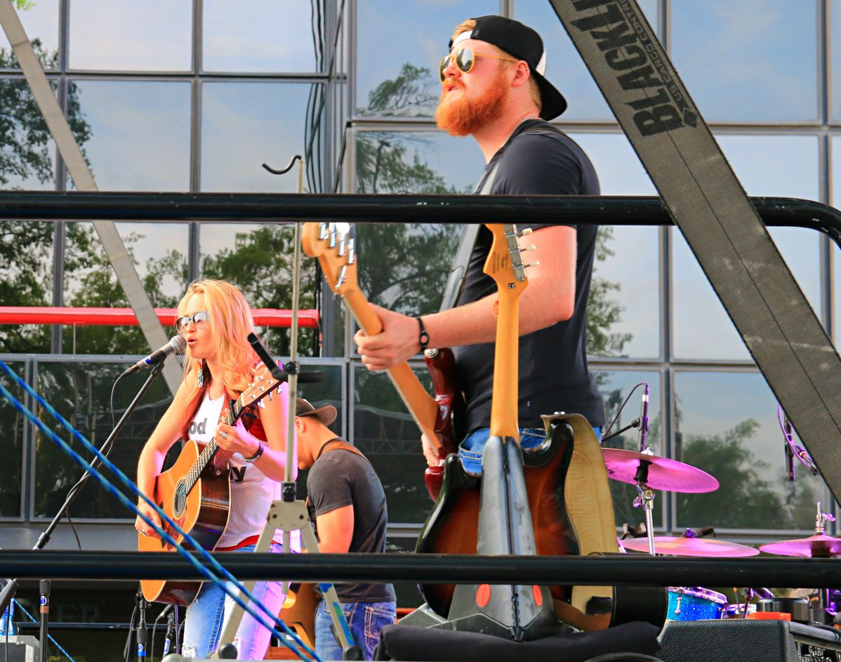 Bri Bagwell kicked of the music on the main stage