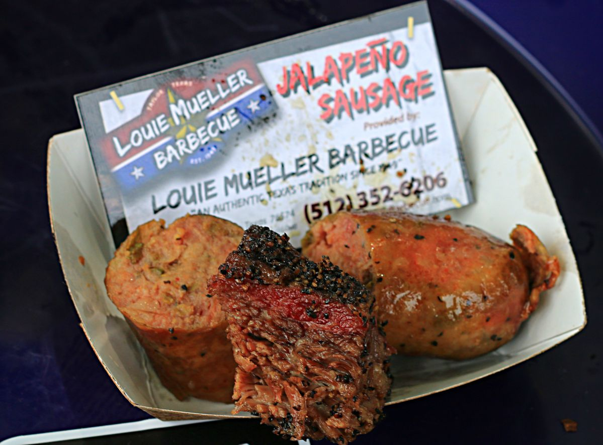 Classic beef rib and jalapeno sausage from Louie Mueller