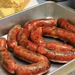 Fresh made sausage from Doubleback BBQ