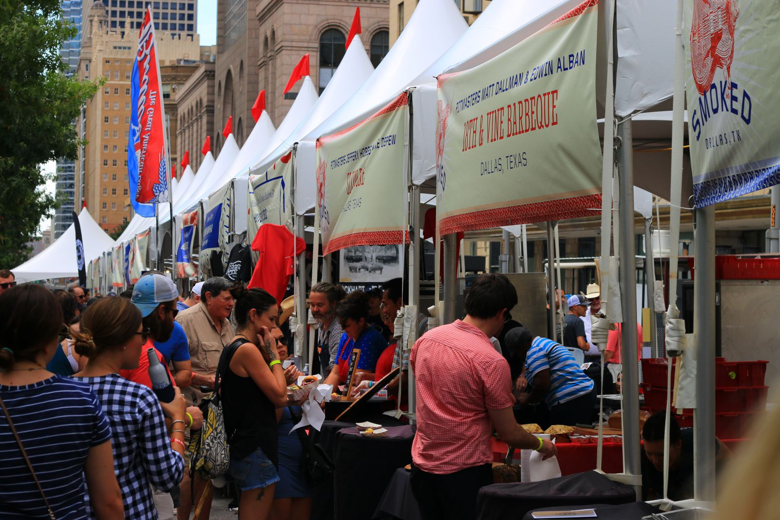 BBQ booths at Smoked Dallas 2016