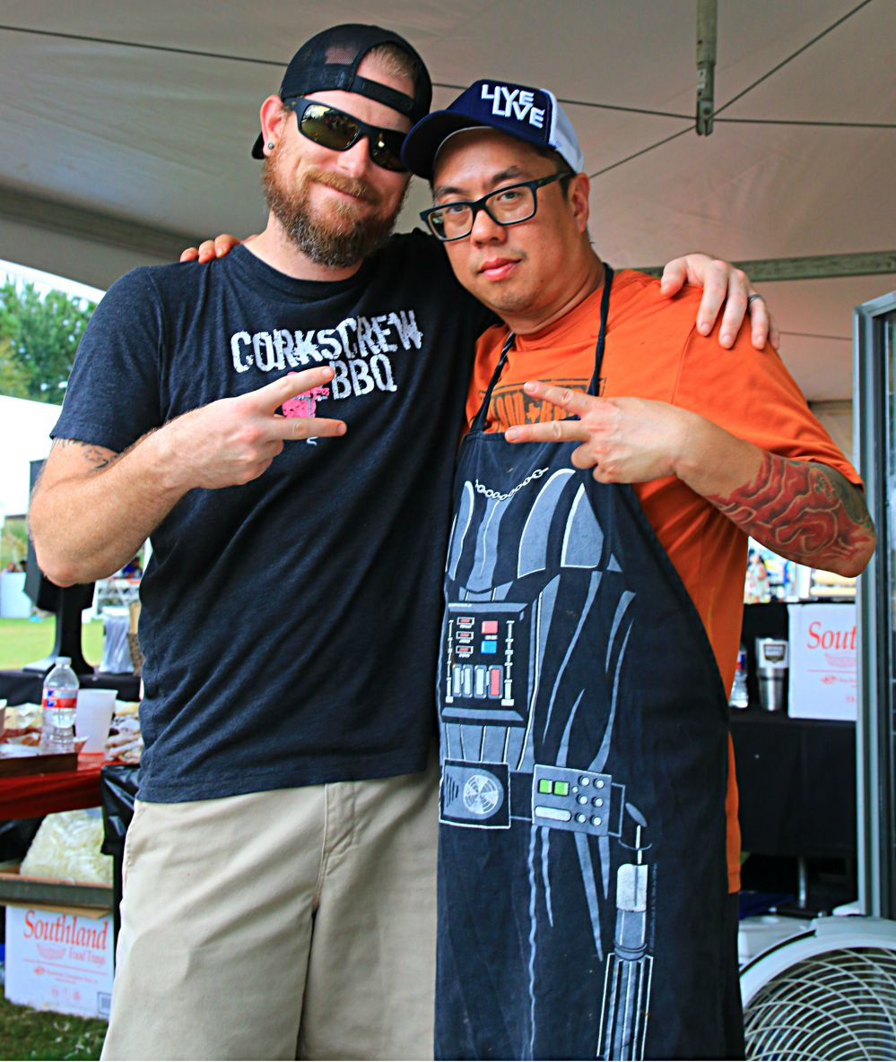 Will Buckman and Quy Hoang at the Woodlands BBQ Fest 2016