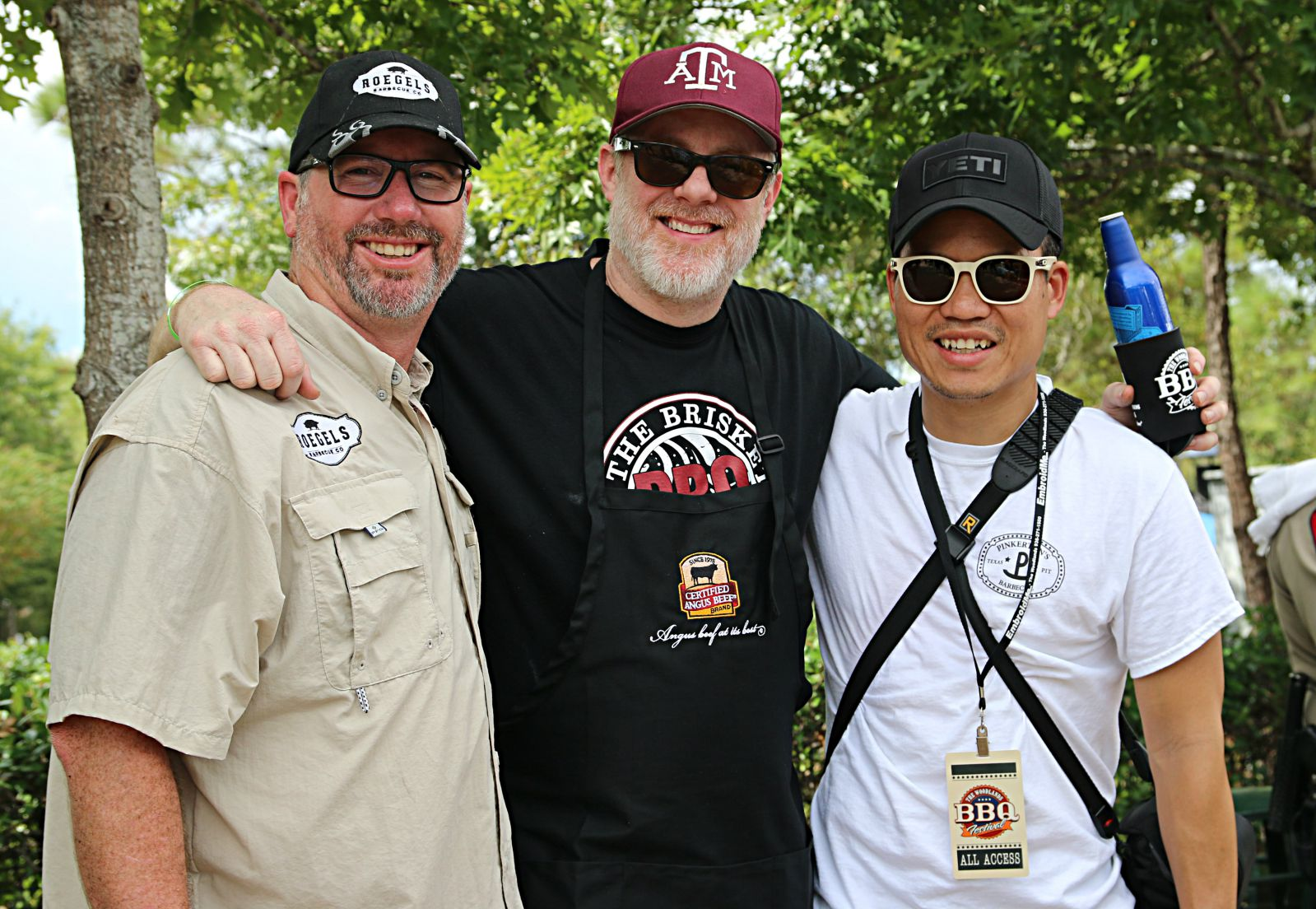 Russell Roegels, Wayne Kammerl, and Jimmy Ho at The Woodlands BBQ Fest 2016