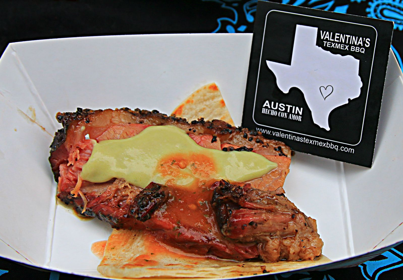 Valentina's Texmex BBQ brisket and tortilla at Smoked Dallas 2016
