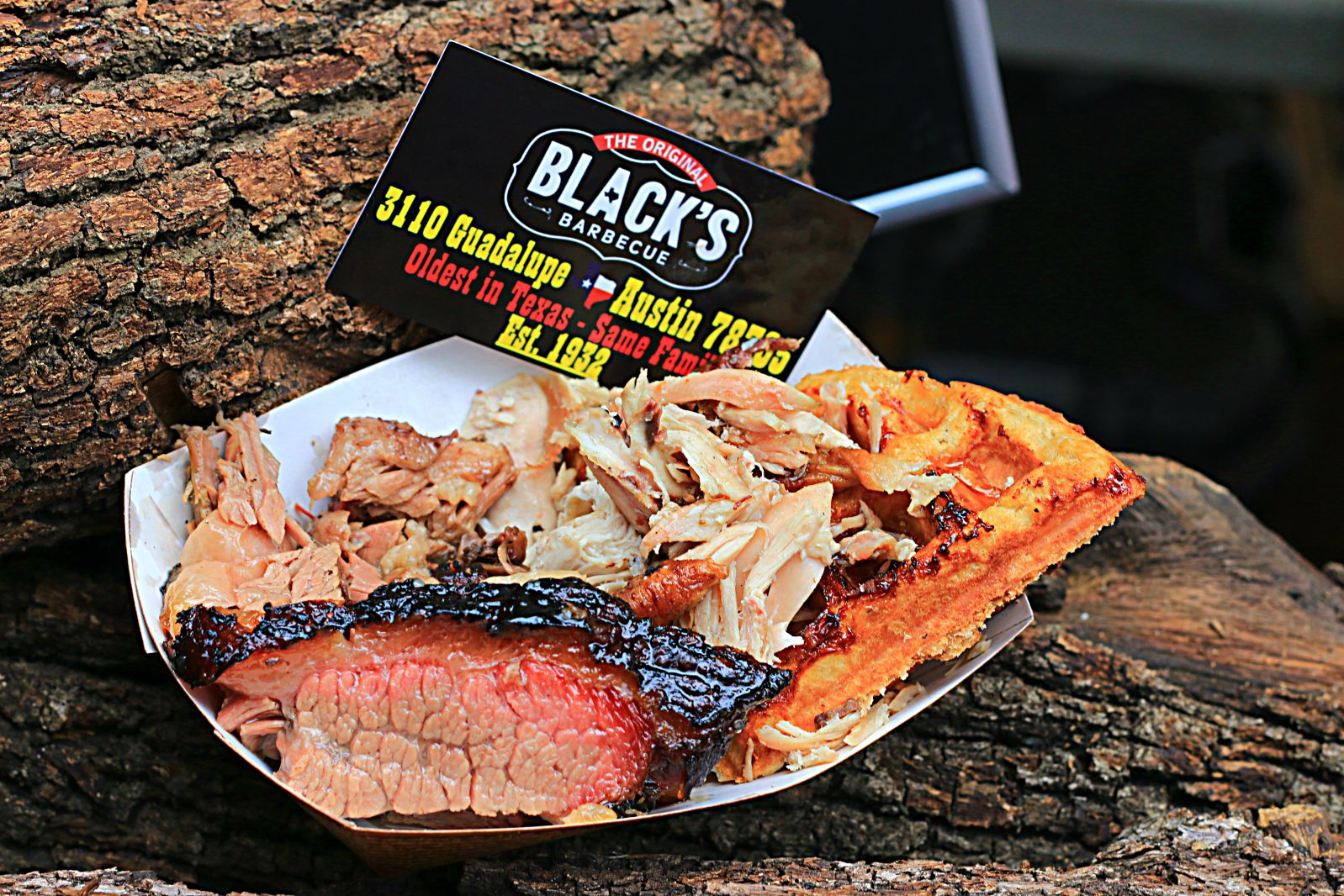 Black's Barbecue scratch made waffles, chicken, and brisket at Smoked Dallas 2016