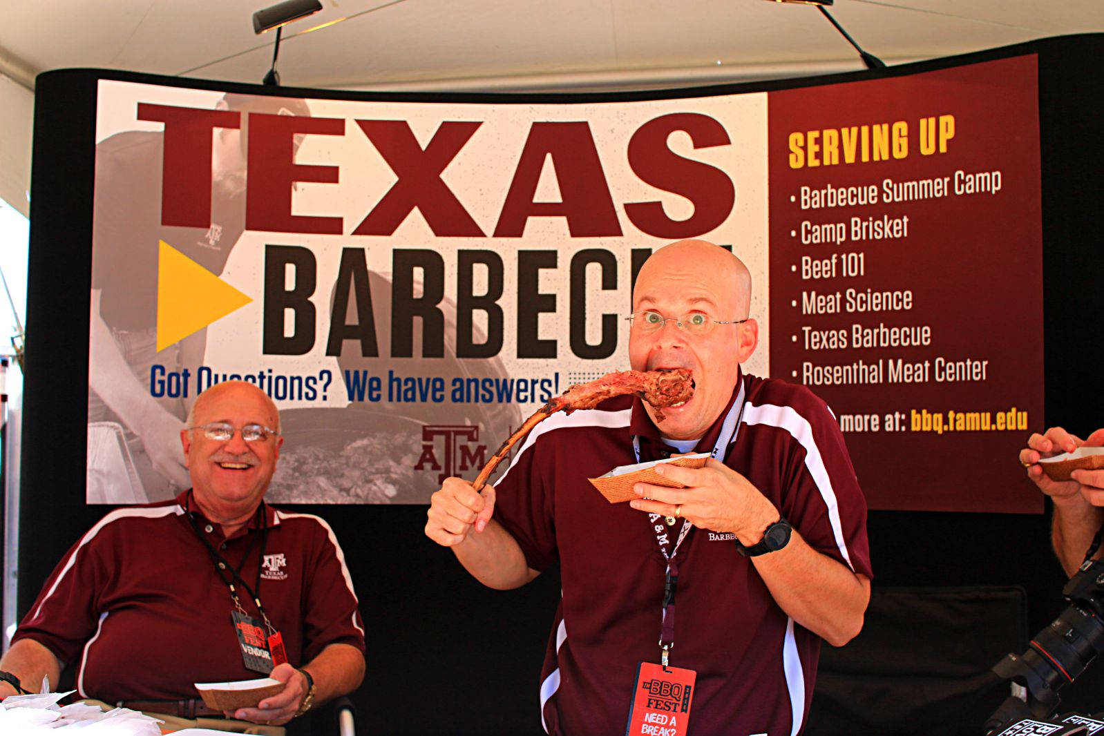Jeff Savell and the gang from A&M meat science department were on hand at Texas Monthly BBQ Fest 2016
