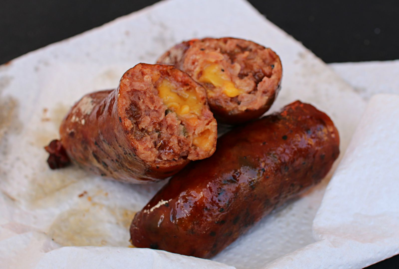 Hays Co. jalapeno, cheese, and chocolate sausage at Texas Monthly BBQ Fest 2016
