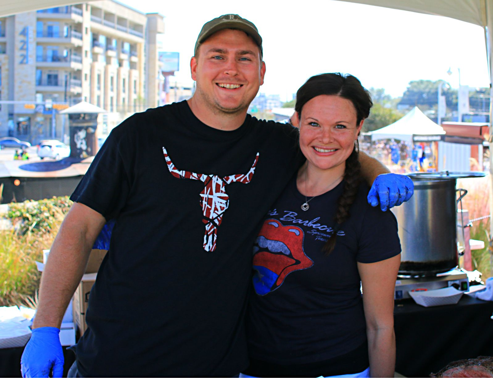 Seth and Courtney Glaser of Opie's Barbecue at Texas Monthly BBQ Fest 2016