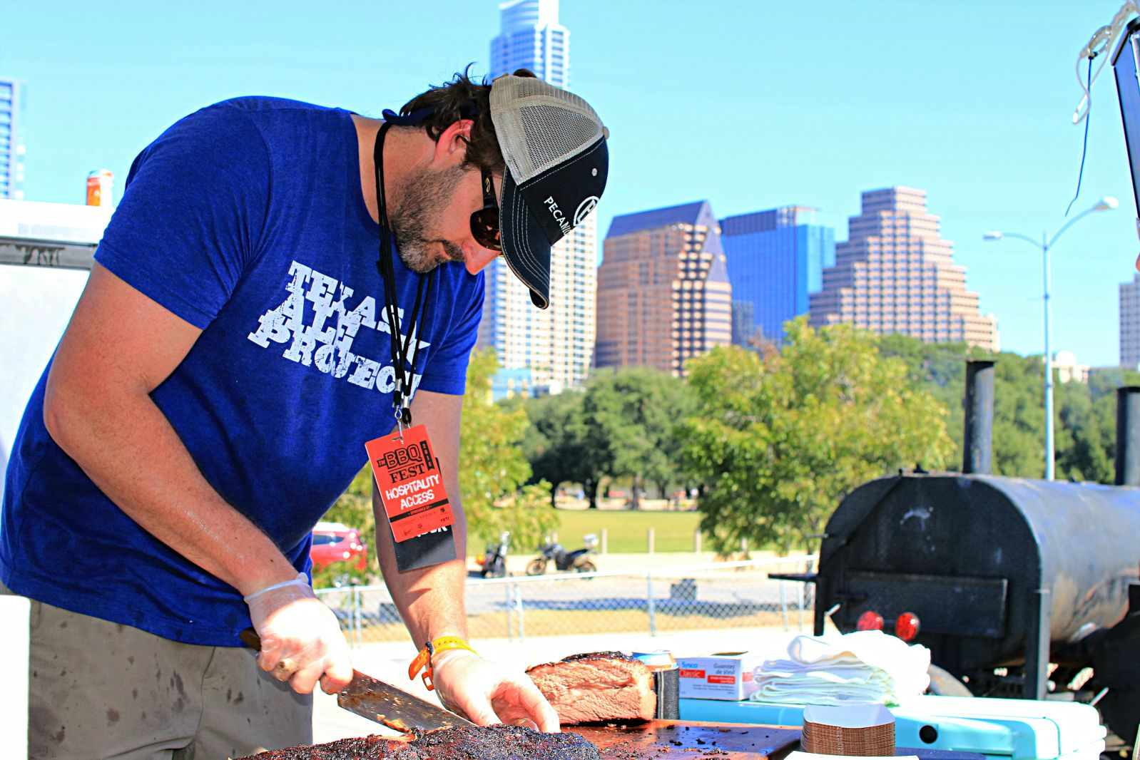 Justin Fourton of Pecan Lodge at Texas Monthly BBQ Fest 2016