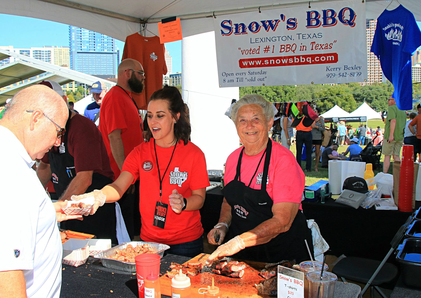 Tootsie Tomanetz of Snow's BBQ at Texas Monthly BBQ Fest 2016