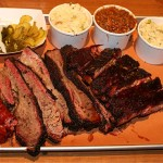 Sausage, Brisket. Ribs, and sides at Pinkertons Barbecue
