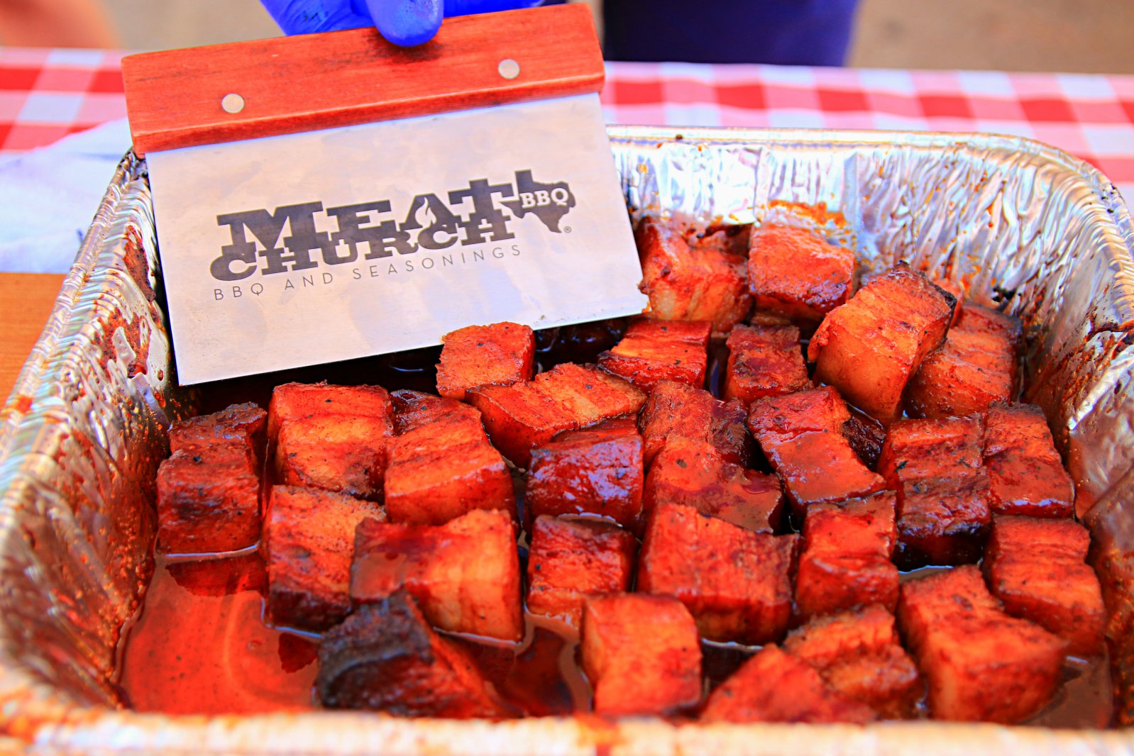 Great pork belly bites from Meat Church at Red Dirt 2017