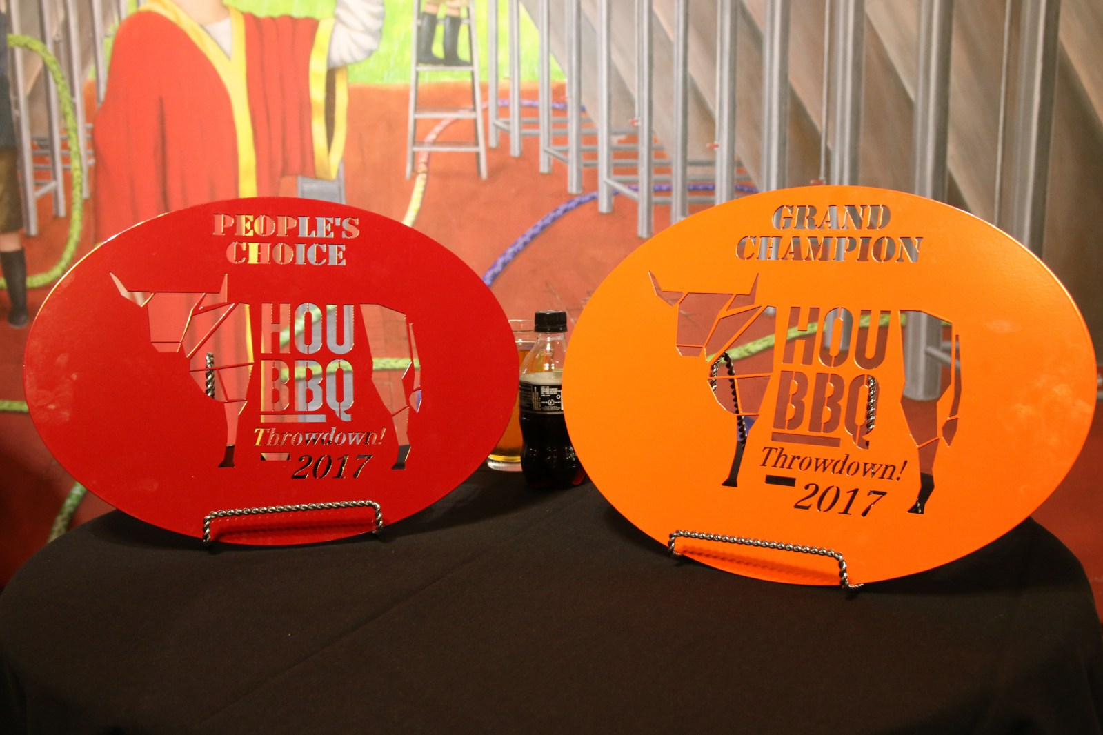 HOUBBQ Throwdown 2017 winners trophies